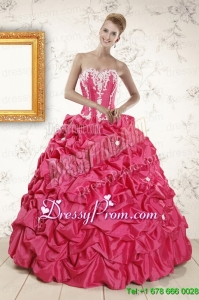 2015 Stylish Ball Gown Sweetheart Quinceanera Dresses with Appliques