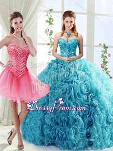 Classical Big Puffy Beaded Detachable Sweet 16 Quinceanera Skirts in Rolling Flower