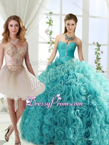 Elegant Big Puffy Rolling Flowers Detachable Quinceanera Skirts with Beading and Appliques
