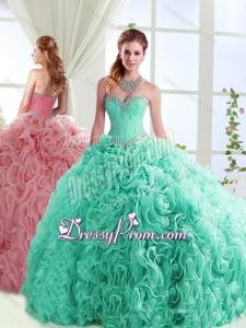 Exclusive Beaded Really Puffy Detachable Quinceanera Skirts in Rolling Flowers