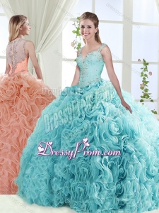 Exclusive See Through Back Beaded Detachable Sweet 16 Quinceanera Skirts with Straps