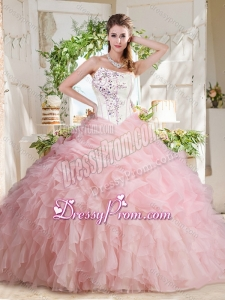Affordable Asymmetrical Beaded Beautiful Quinceanera Dress with Visible Boning Bubbles and Ruffles