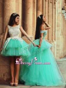 2016 Fashionable Off the Shoulder Prom Dress with Lace and Appliques