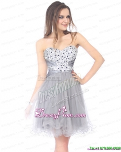 Clearance 2015 Luxurious Sweetheart Grey Prom Dress with Beading