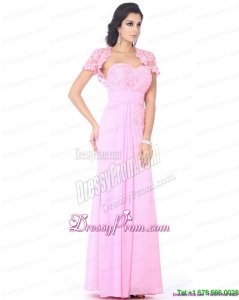 On Sale Beading Sweetheart Ruching Prom Dresses in Baby Pink