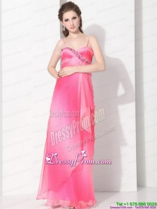 Vintage Remarkable 2015 Spaghetti Straps Prom Dress in Multi Color