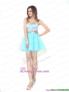 2015 On Sale Sweetheart Light Blue Prom Dress with Sequins