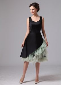 Knee-length Black and Green Beaded Prom Dress in West Sussex