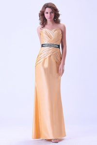 Brand New Gold Mermaid Floor-length Prom Dress with Ruche