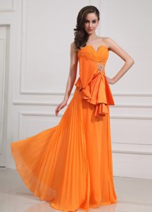 Outstanding Orange Pleated Prom formal Dresses in Warwickshire in 2013