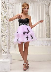 New Mini-length Prom Cocktail Dress Sweetheart with Beaded Appliques