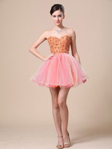 Cute Sweetheart For Custom Made Prom Dress with Beaded Bodice