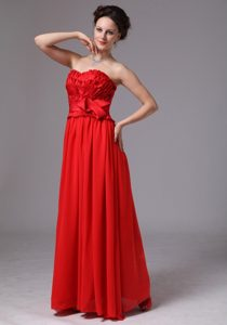 Layers with Bowknot Sweetheart Red Prom Dress 2013 Cheap