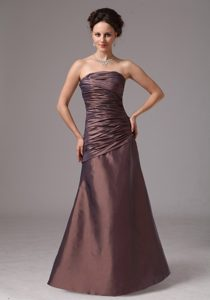 Discount 2013 Brown Ruched Prom Dress For Custom Made