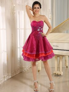 Multi-color Sweetheart Short Prom Dress For Sweet 16 Prom