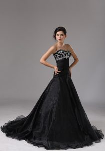 Beaded Bust Sweetheart Prom Evening Dress for Sale in Black