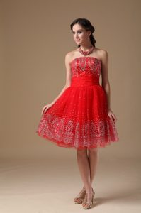 Embroidered Mini-length Strapless Prom Hoemcoming Dress Cheap