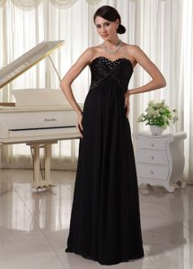 2014 Brush Train Sweetheart Empire Black Prom formal Dress