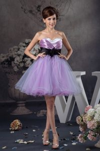 Mini-length Sweetheart Prom Dress with Black Belt for 2013