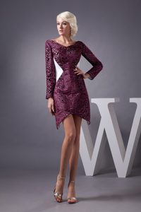 Special Fabric Prom Dresses with V-neck and Long Sleeves for 2013