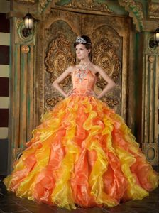 Beautiful Strapless Dress for Quinceanera Beading with Ruffled Layers