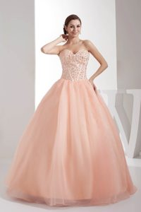 Sweetheart Beading Ball Gown Quinceanera Dress with Watermelon