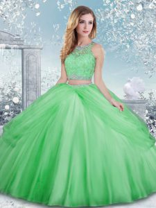Smart Sleeveless Beading and Lace Clasp Handle Sweet 16 Dress