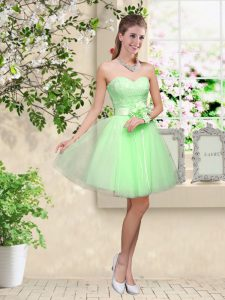 Custom Designed Court Dresses for Sweet 16 Prom and Party with Lace and Belt Sweetheart Sleeveless Lace Up