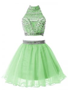 New Style Sleeveless Organza Zipper Quinceanera Court of Honor Dress for Party and Wedding Party