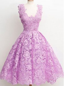 Sleeveless Lace Zipper Quinceanera Dama Dress