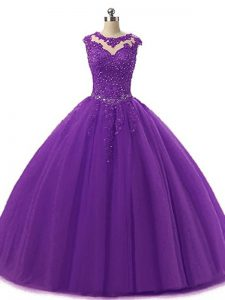 Best Sleeveless Beading and Lace Lace Up Quinceanera Dresses