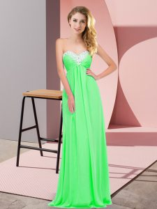 Extravagant Apple Green Sweetheart Lace Up Ruching Evening Dress Sleeveless