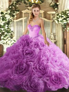 Stylish Sleeveless Beading Lace Up 15 Quinceanera Dress