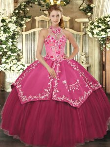 Excellent Sleeveless Lace Up Floor Length Beading and Embroidery 15 Quinceanera Dress