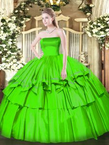 Floor Length Ball Gowns Sleeveless 15 Quinceanera Dress Zipper