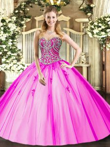 Fantastic Tulle Sleeveless Floor Length Vestidos de Quinceanera and Beading and Appliques