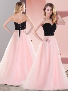 Sweetheart Sleeveless Tulle Belt Lace Up