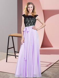Top Selling Sleeveless Lace and Belt Lace Up Prom Party Dress