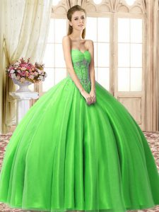 Floor Length Quinceanera Gown Sweetheart Sleeveless Lace Up
