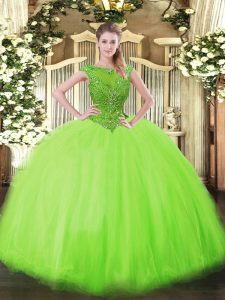 Designer Scoop Neckline Beading Sweet 16 Dresses Sleeveless Zipper