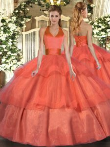Trendy Sleeveless Ruffled Layers Lace Up Sweet 16 Quinceanera Dress