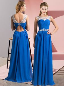 Sleeveless Beading Clasp Handle Prom Dresses