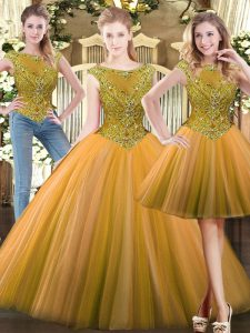 Classical Sleeveless Zipper Floor Length Beading Sweet 16 Quinceanera Dress