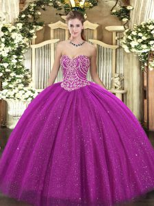 Sleeveless Lace Up Floor Length Beading Vestidos de Quinceanera