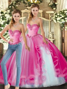 Fine Baby Pink Quince Ball Gowns Military Ball and Sweet 16 and Quinceanera with Ruffles Sweetheart Sleeveless Lace Up