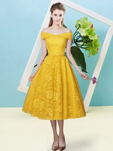 Cap Sleeves Bowknot Lace Up Court Dresses for Sweet 16