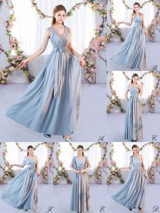 Floor Length Grey Court Dresses for Sweet 16 Off The Shoulder Sleeveless Lace Up