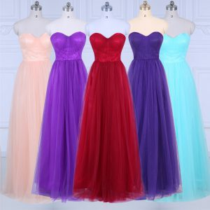 Ruching Court Dresses for Sweet 16 Peach Zipper Sleeveless Floor Length