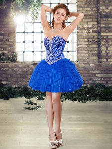 Hot Selling Sleeveless Beading and Ruffles Lace Up