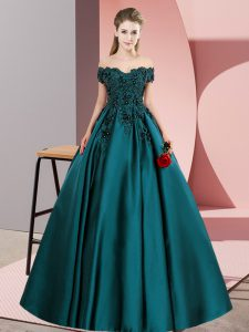 Off The Shoulder Sleeveless Satin Vestidos de Quinceanera Lace Zipper